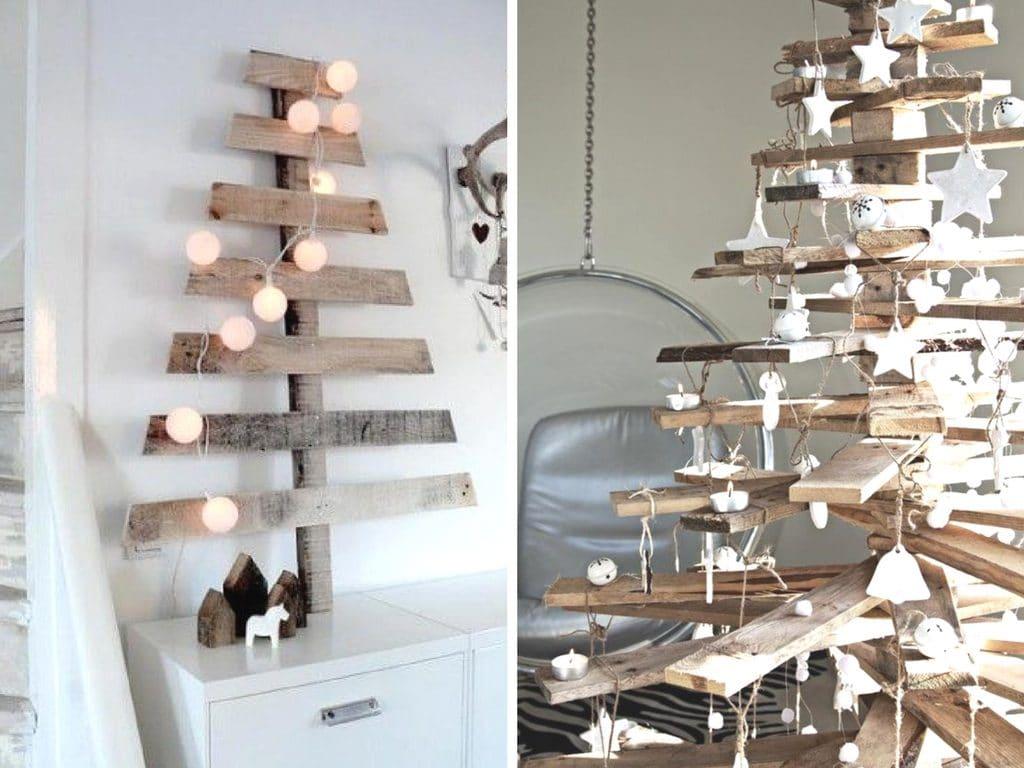 Kerstboom hout Rolgordijnwinkel.nl