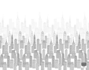 rolgordijn met print gebouwen
