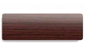 donkerbruine jaloezie met houtnerf