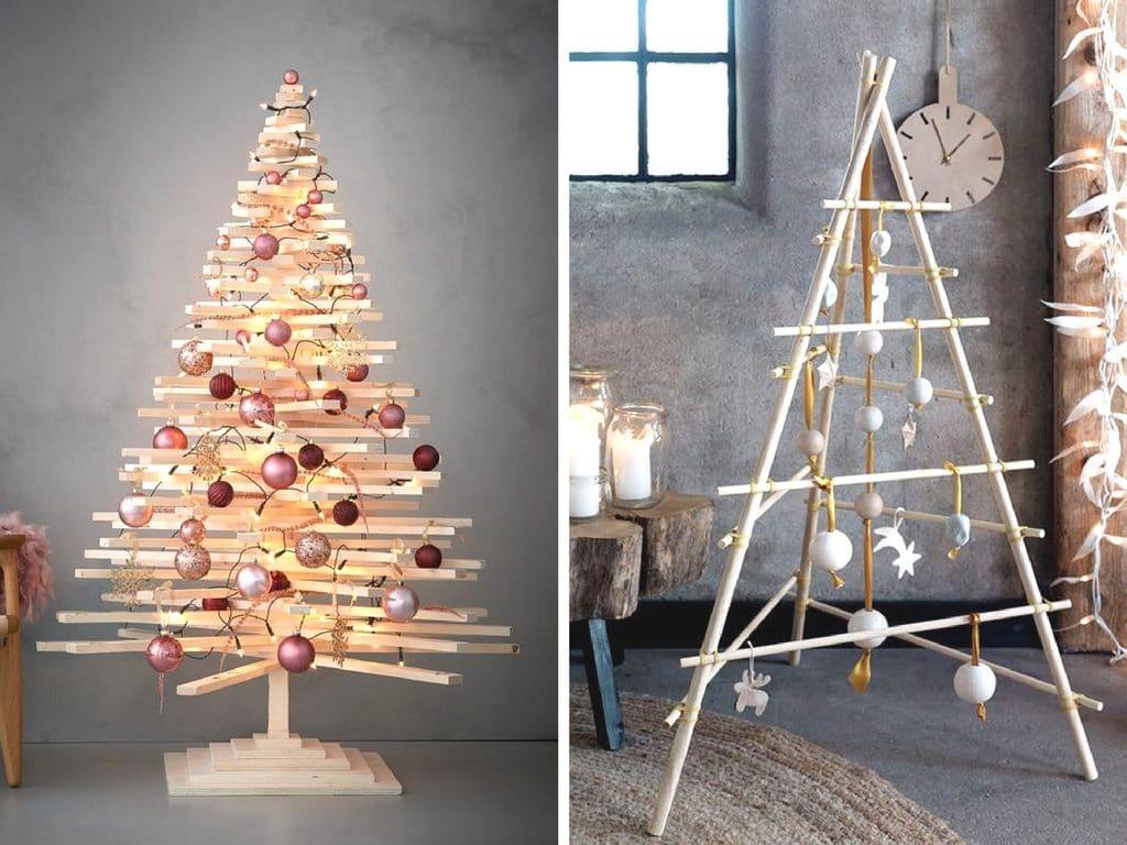 Kerst 2 0 Kerstboom Van Hout Rolgordijnwinkel Nl