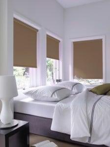 Slaapkamer rolgordijn bruin