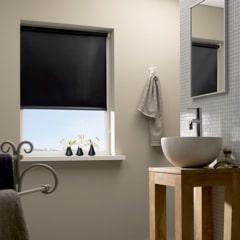 Badkamer rolgordijn zwart