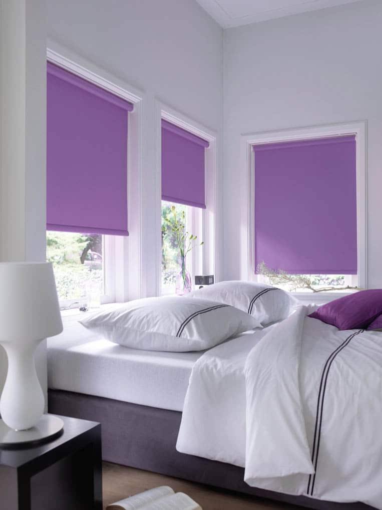 Rolgordijnen foto 39 s voor inspiratie for Raamdecoratie slaapkamer verduisterend