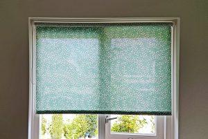 Rolgordijn met print groen