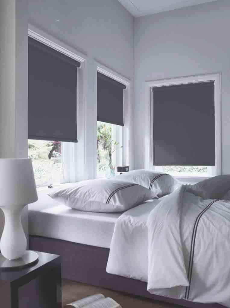 slaapkamer rolgordijn donkergrijs