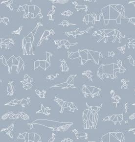 kinderrolgordijn grijs dieren