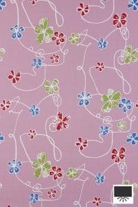 4580 verduisterend rolgordijn met bloemen