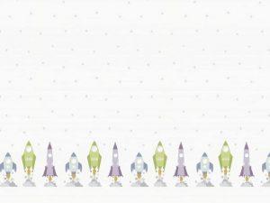 Nieuwe kinderprints rolgordijn raketten