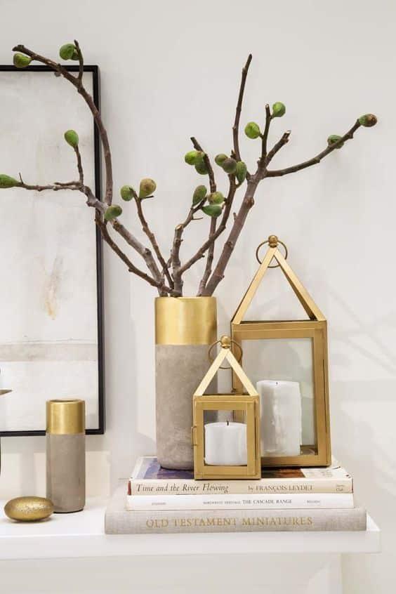 Gouden accessoires in huis