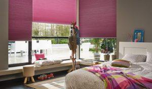 DUETTE gordijnen roze verduisterend