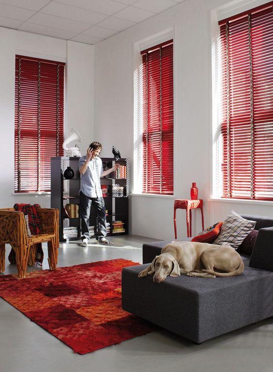 Rood in je interieur valentijnsspecial rolgordijnwinkel - Kamer in rood en grijs ...