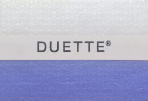 duette shade in blauw