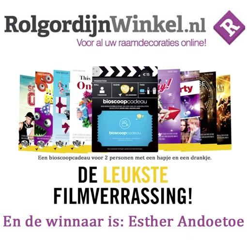 Bioscoopcadeau Rolgordijnwinkel.nl