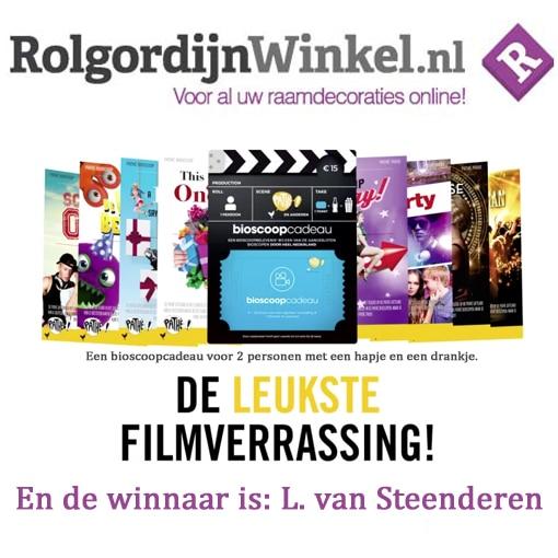 winnaar bioscoopbon rolgordijnwinkel beoordelingen en review