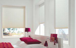 slaapkamer verduisterende duettegordijnen plisse
