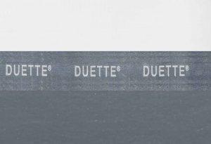 Duette verduisterend grijs plisse gordijn