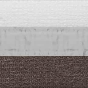 Dubbel plissegordijn verduisterend bruin