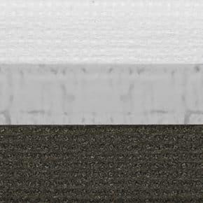 Donkergrijs dubbel plissegordijn verduisterend