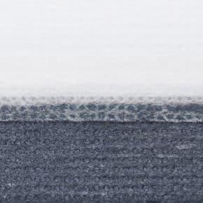 blauw plissegordijn dubbel
