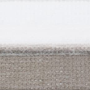 Taupe plissegordijn dubbel