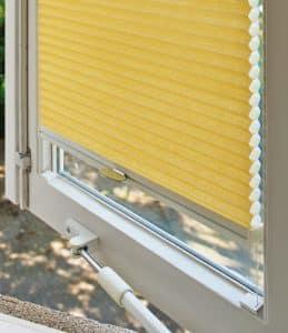 DUETTE gordijnen geel top-down