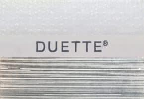 Duette shade streep grijs plisse