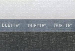 Zwarte Duette dubbele plisse gordijn
