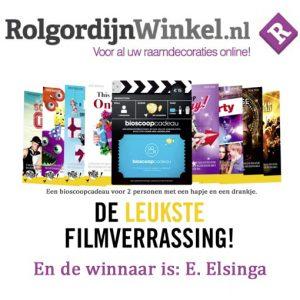 Bioscoopcadeau Rolgordijnwinkel