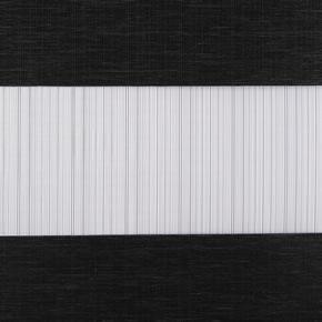 Duorolgordijn zwart met streep