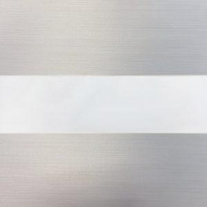 Ect12 verduisterend duorolgordijn wit gemeneerd