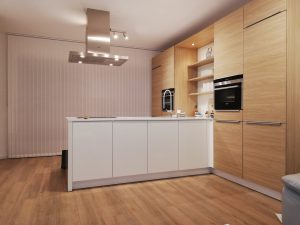 Lamellen stof 89mm in de keuken