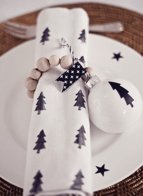 kerstdiner tafelopmaak