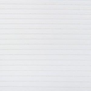 Lamellen stof wit met draad