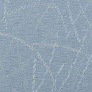 Lamellen stof blauw met print