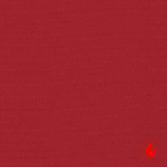 Rode raamdecoratie op maat