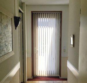 Stoffen lamellen voor deur