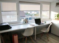 Perfect fit rolgordijn kantoor