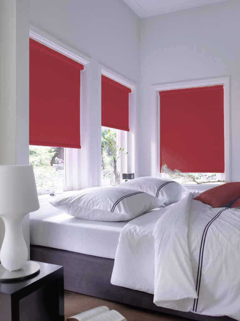 Bordeaux rood slaapkamer rolgordijn