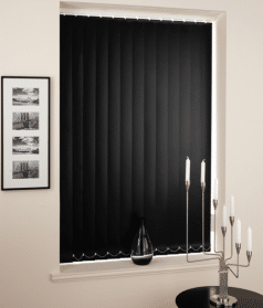 Zwarte 89mm lamellen gesloten