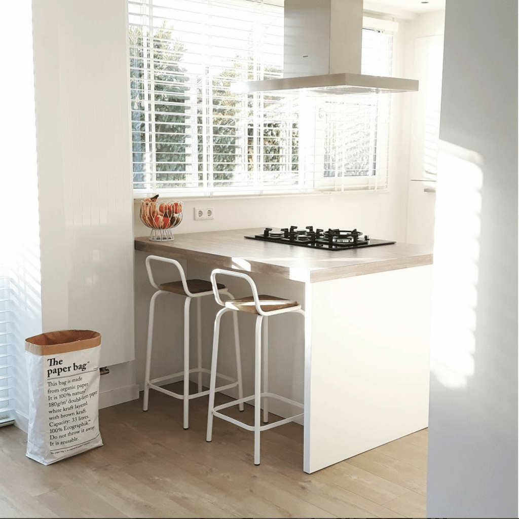 Inspiratie voor het interieur van je keuken rolgordijnwinkel for Kleine amerikaanse keuken met bar