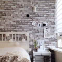 Duorolgordijn in slaapkamer