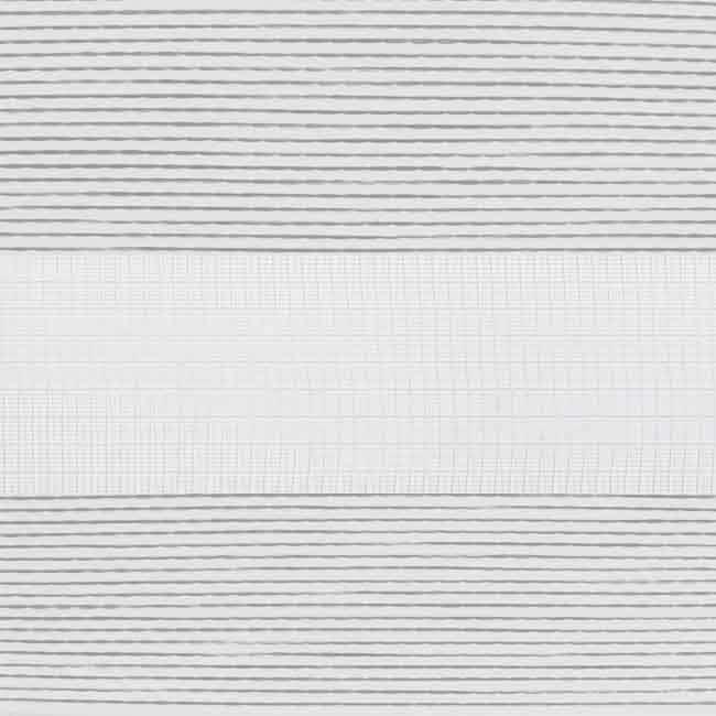 Duorolgordijn wit met bruin op maat