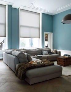 Rolgordijn grijs voor in de woonkamer