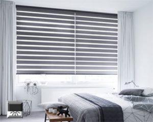 Duorolgordijn verduisterend voor slaapkamer