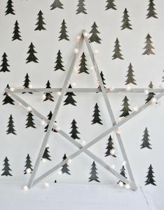 Kerstster hout diy